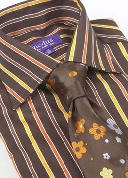 chemise-nodus-marron