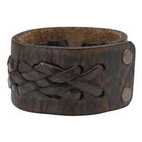 Bracelet en cuir tressé