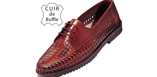 Chaussures Tressées en Buffle