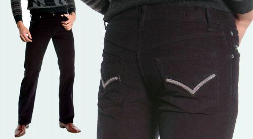 Pantalon Viktor Rolf velours noir