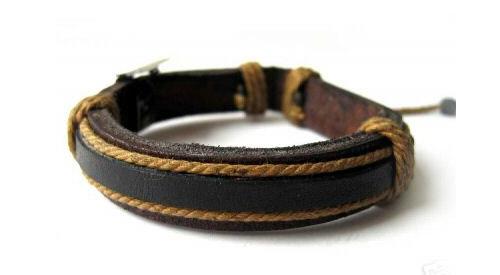 Bracelet en cuir tibetain