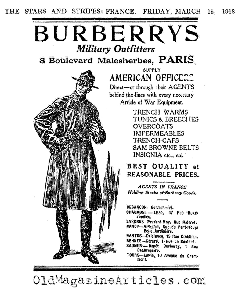 histoire du trench burberry
