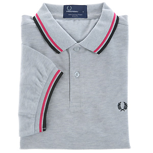 polo-fred-perry-gris-rose-noir