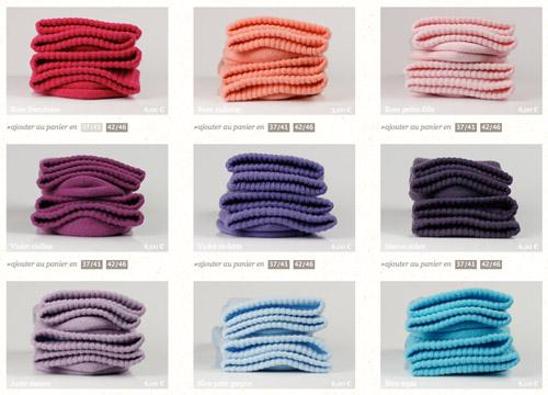 Chaussettes Archiduchesse  couleurs
