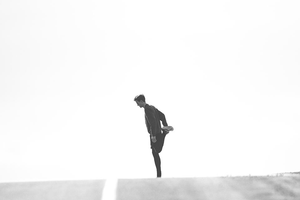 running course a pied debutant noir et blanc