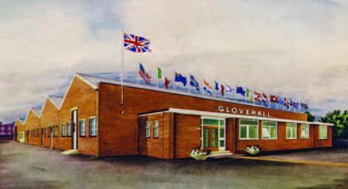 L'usine de Gloverall dans le Northamptonshire