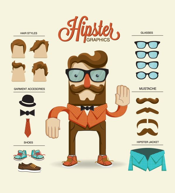 Infographie Hipster
