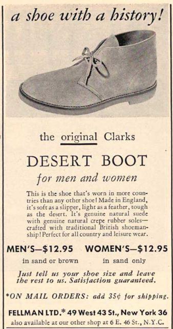 Clarks desert boot vintage ad