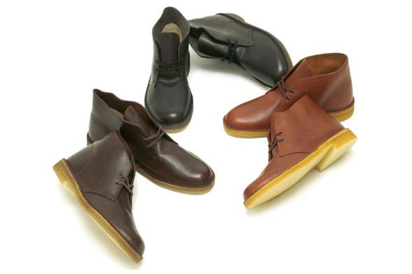 clarks desert boots cuir lisse 2009