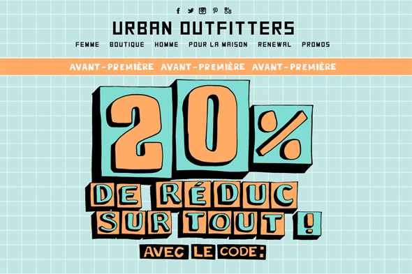 20 chez urban outfitters