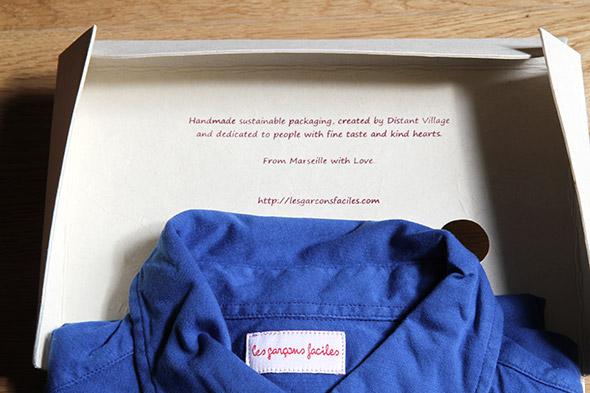 chemise les garçons faciles packaging marseilles