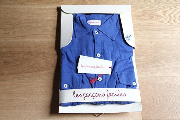 chemise les garçons faciles packaging