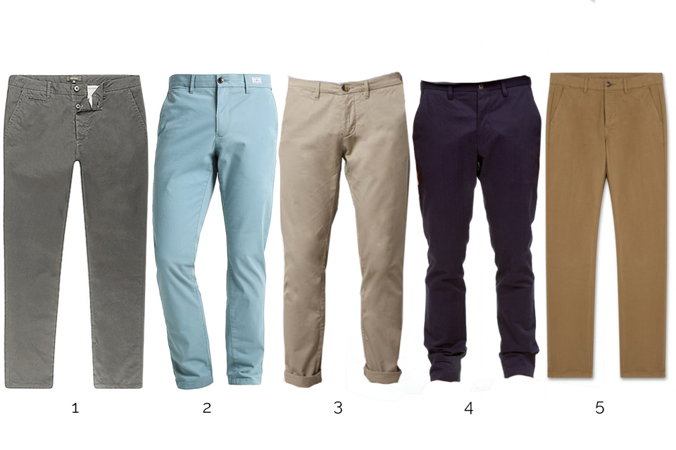 chinos casual homme