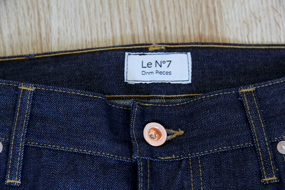 dnm pieces jeans n7 bouton
