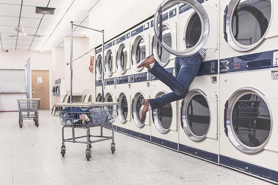 lavage machine blanchisserie