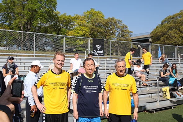 Ban Ki Moon avec Hummel