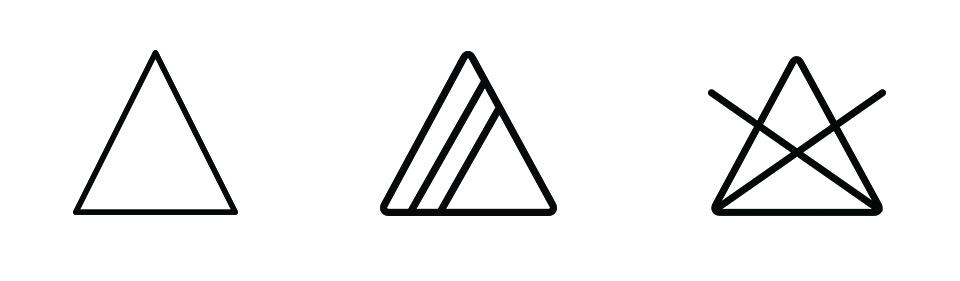 sechage repassage machine symboles