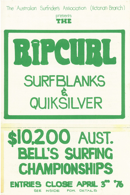Rip Curl 1976 Easter Surfing Championship Poster