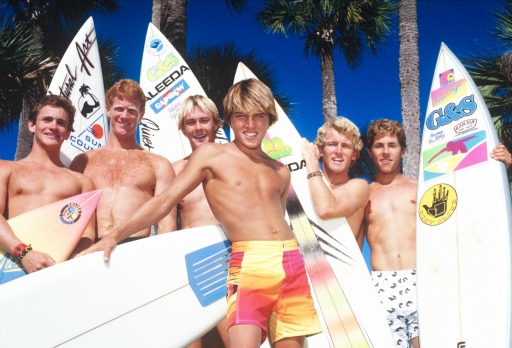 Kelly Slater, Todd Holland, Scott McCranels, ?, Matt Kechlee, Charlie Kuhn