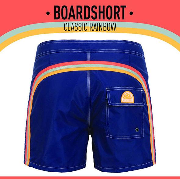 sundek classic rainbow shorts