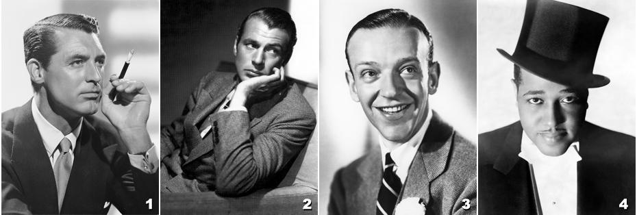 1 - Cary Grant - Gary Cooper - Fred Astaire - Duke Ellington