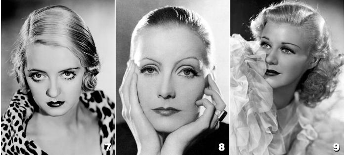 3b - Greta Garbo - Bette Davis - Ginger Rogers - Marlène Dietrich