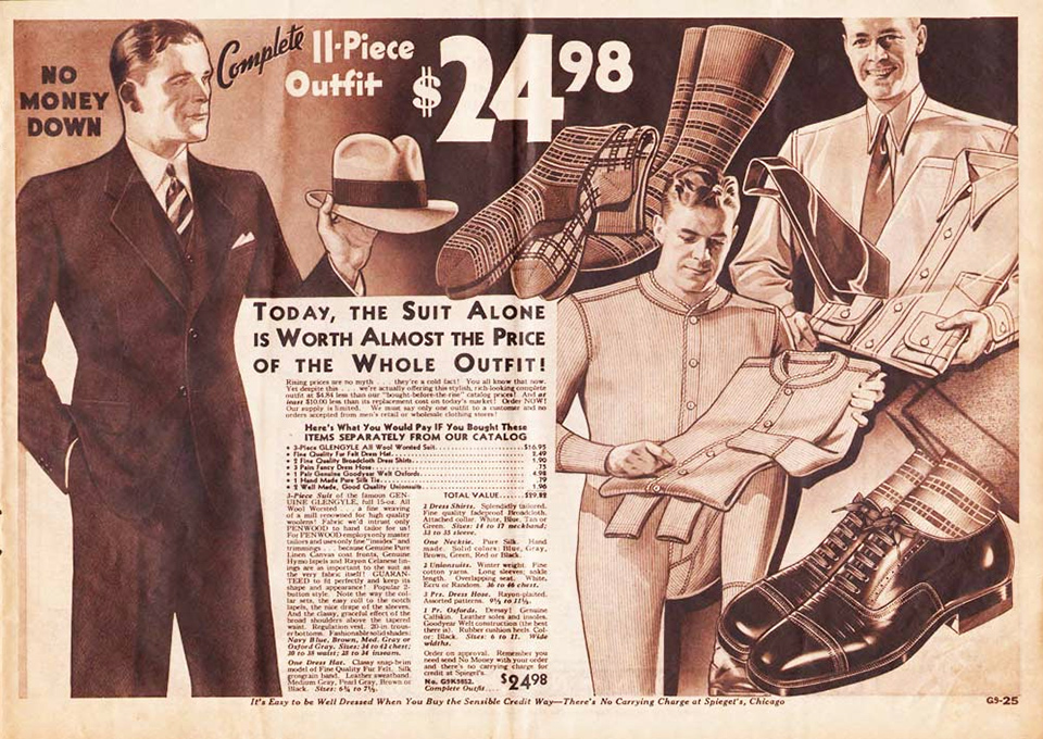 complete mens outfit 1933