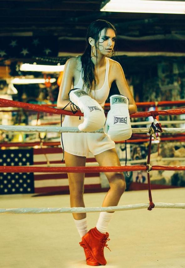 Emily Ratajkowski Boxer