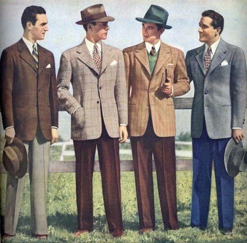 Des hommes au début des années 1950