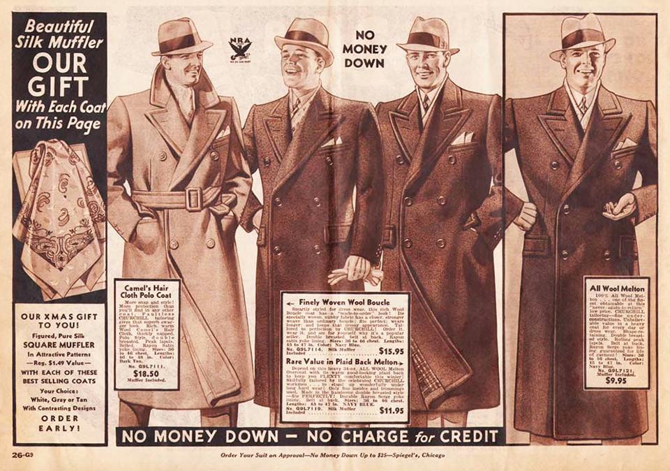 mens boys sweaters shirts ads 1937