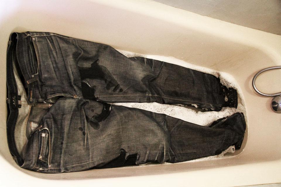 jeans brut baignoire