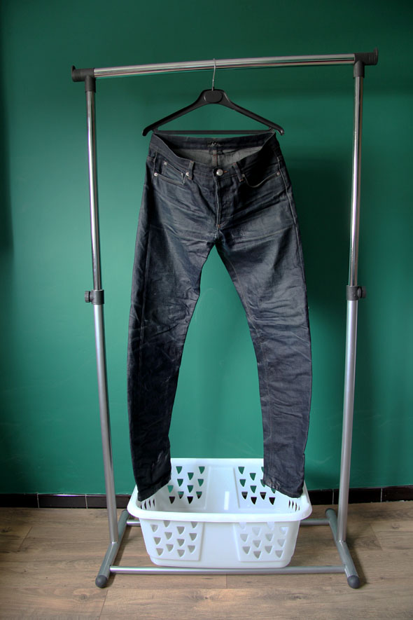 jeans brut sechage