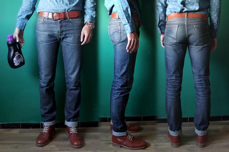 laver son jeans brut