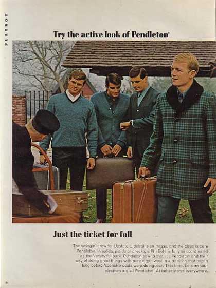 Une pub de la marque Pendleton dans Playboy (1966)