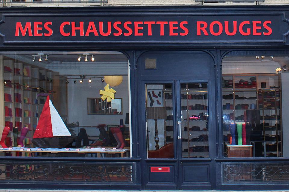 Boutique Mes Chaussettes Rouges façade