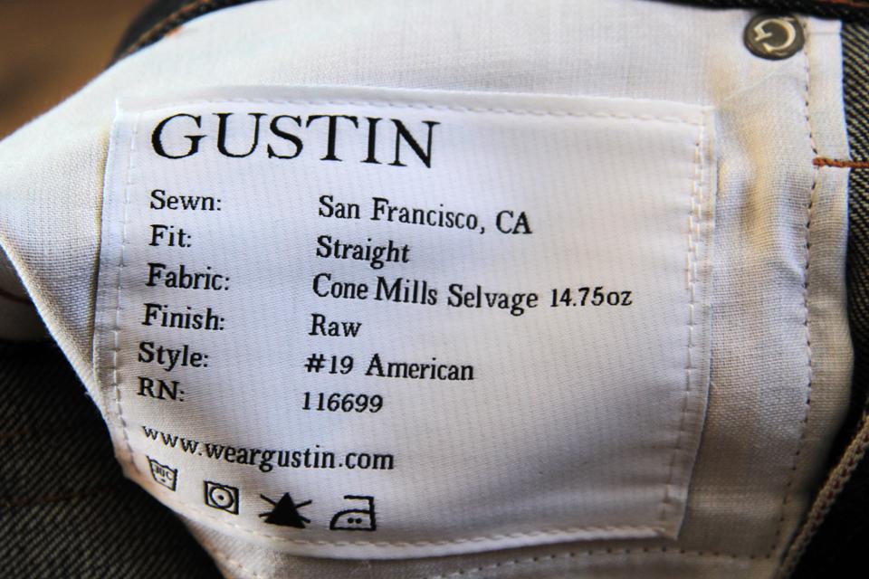 jeans gustin etiquette