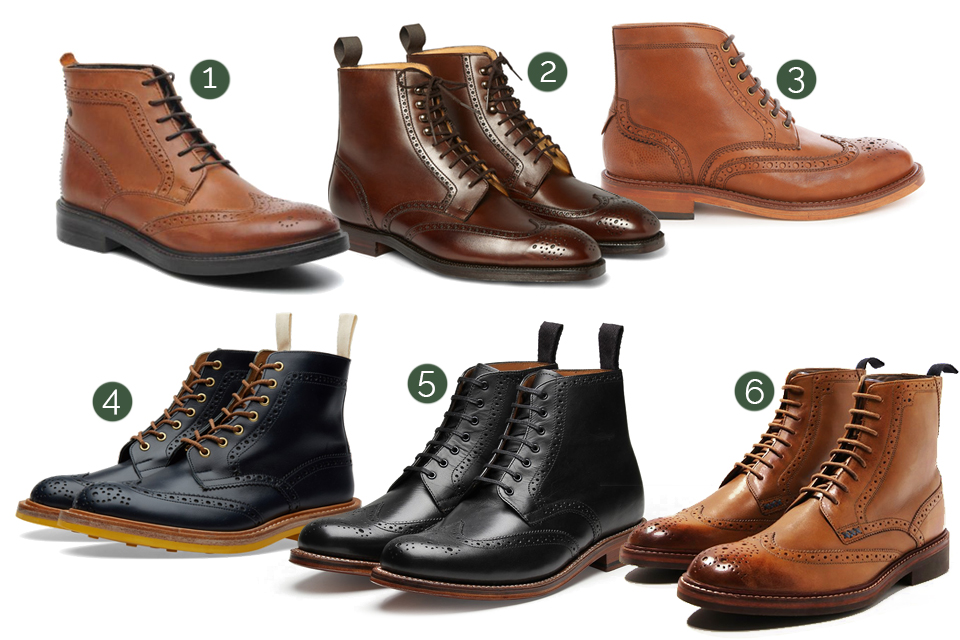 brogue boots homme