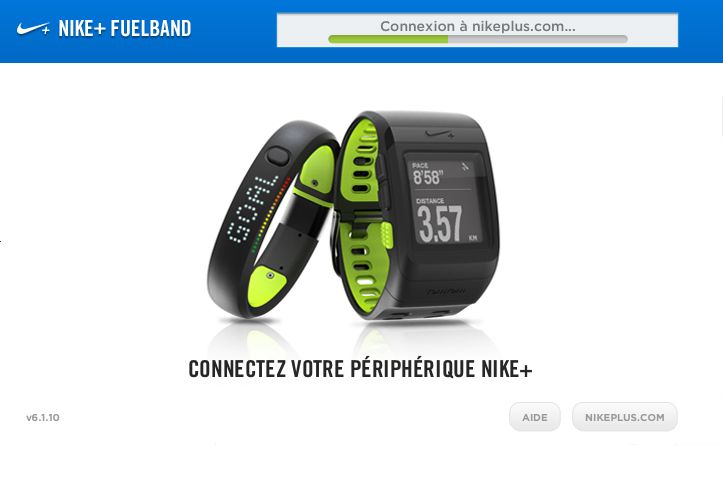 connection nike plus