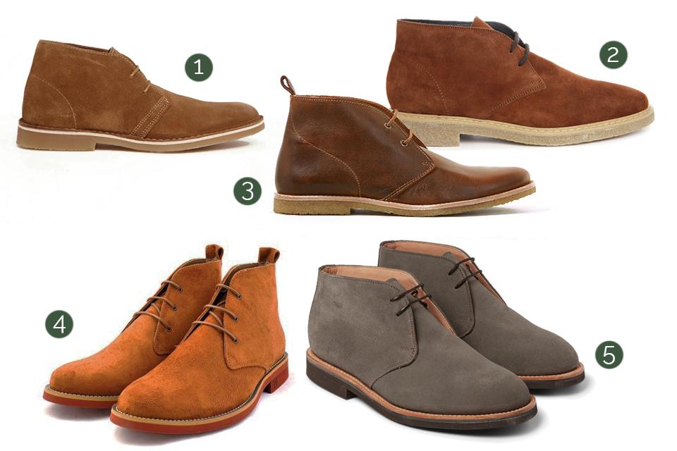 desert boots pour homme