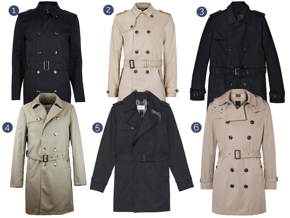trench coat homme manteau