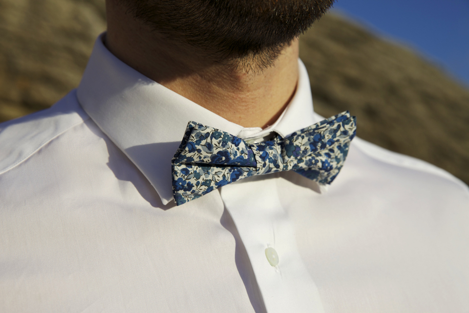 chemise cavalier bleu col