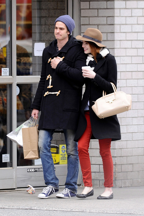 Emma Stone et Andrew Garfield à New York