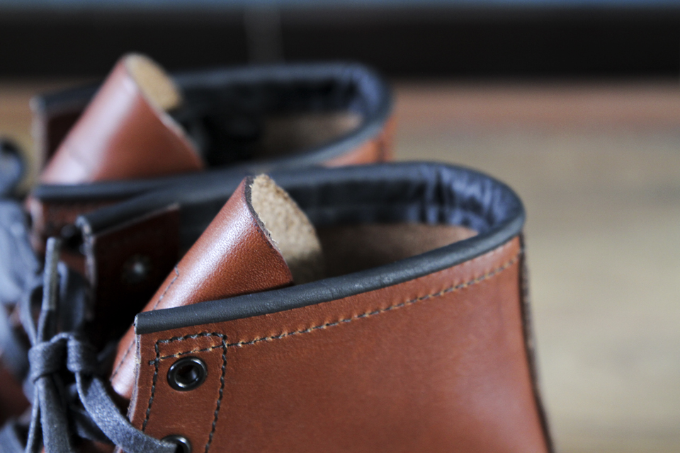 red wing leather details