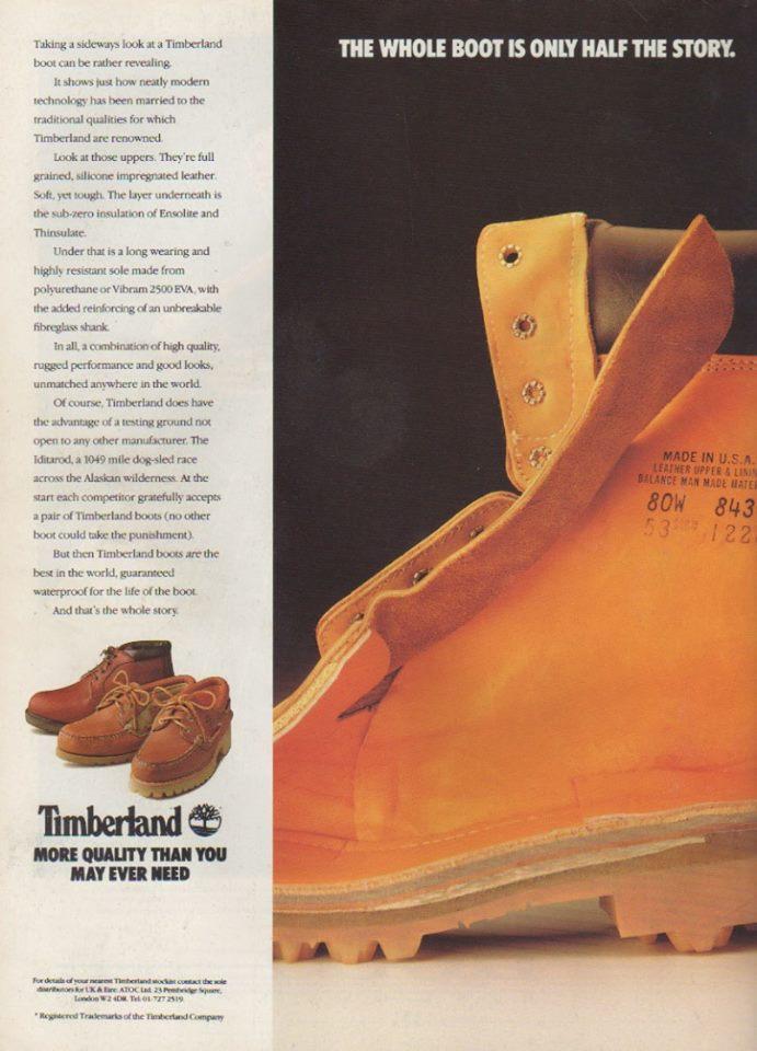 timberland vintage ad