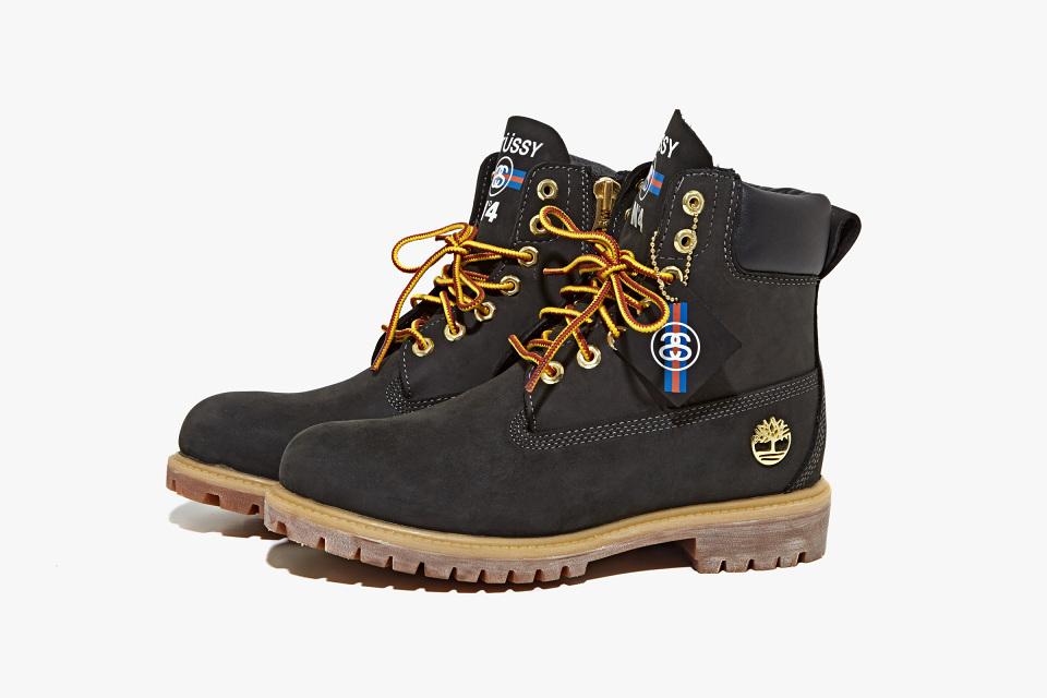 timberland x stussy yellow boot black 2013