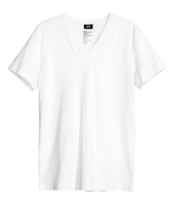 t-shirt-blanc-col-v-h&m