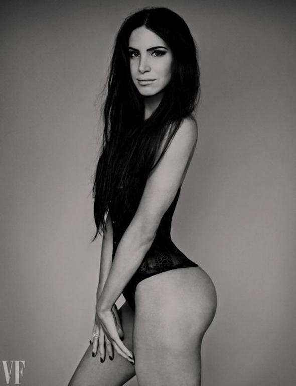 Jen Selter corset noir et blanc