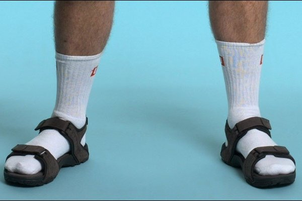 sandales chaussettes