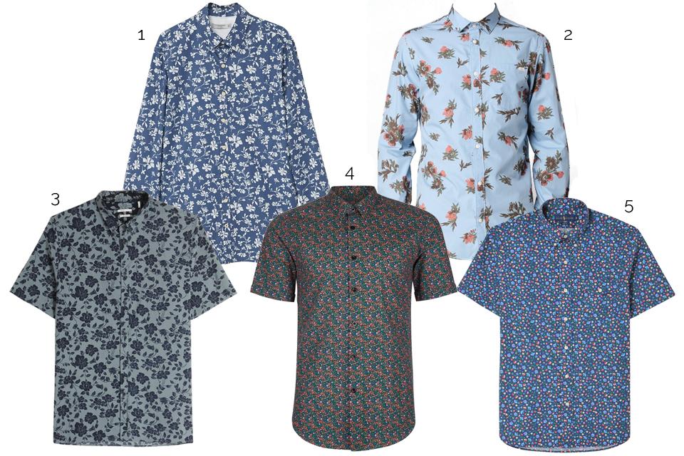 chemises fleurs casual homme ss17