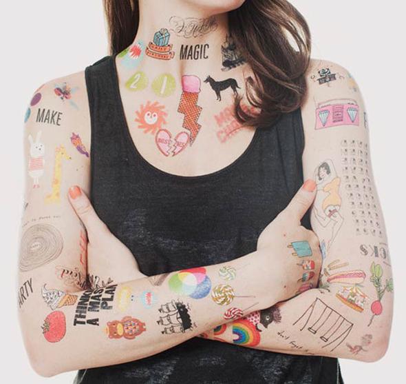 tatouage éphémère temporaire